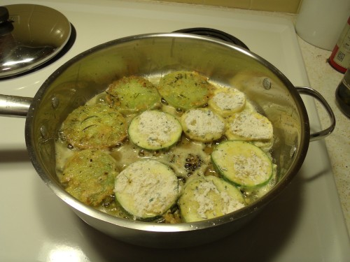 Fried green tomatoes and squash in this pan! Yum!