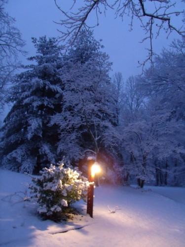 snow-evening