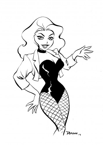 Black-Canary-cartoon